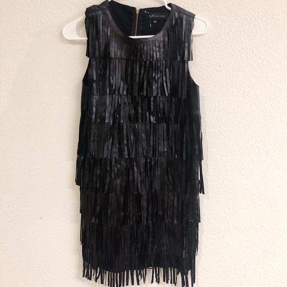 Nasty Gal Dresses & Skirts - ⚡️Nasty Gal pleather fringe mini dress